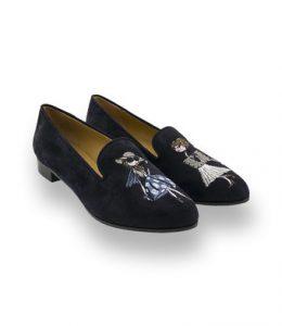 Bestickte Schuhe von John Thomas